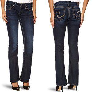 NWT Silver AIKO Bootcut Dark Wash Jeans 31x35 #2